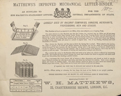Advert For Matthew's Mechanical Letter Binder